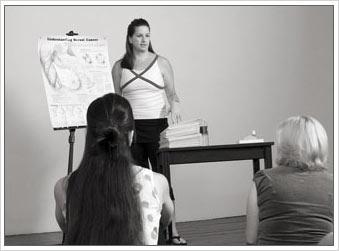 Camille Kittrell teaching a class